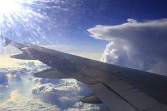 μπλε αεριωθούμενο αερ&omic Στοκ Εικόνες