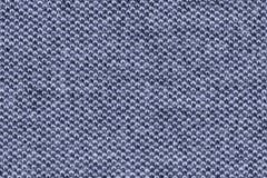 Μπλε ακραία στενή επάνω σύσταση υφάσματος βαμβακιού Στοκ Φωτογραφίες