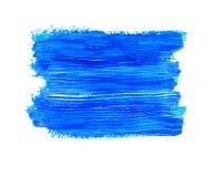 Μπλε ακρυλικό έμβλημα Στοκ Εικόνες