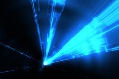 Μπλε ακτίνες λέιζερ Στοκ Εικόνα