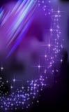 Μπλε ανασκόπηση αστεριών φαντασίας. Ελεύθερη απεικόνιση δικαιώματος