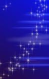 Μπλε ανασκόπηση αστεριών φαντασίας. Στοκ Εικόνες