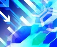 Μπλε ανασκόπηση επιχειρησιακής χρηματοδότησης Στοκ εικόνα με δικαίωμα ελεύθερης χρήσης