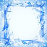 Μπλε ανασκόπηση με τα cristals Στοκ Φωτογραφίες