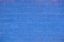 Μπλε ανασκόπηση τούβλου Στοκ Εικόνες