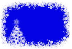 Μπλε ανασκόπηση Χριστουγέννων Στοκ Εικόνες