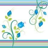 μπλε ανθοδέσμες floral Στοκ Φωτογραφία