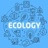 Μπλε απεικόνιση γραμμών οικολογίας για την παρουσίαση απεικόνιση αποθεμάτων
