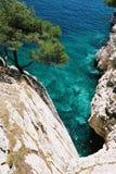 μπλε απότομος βράχος Στοκ Φωτογραφίες