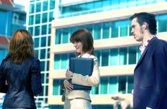 μπλε απόχρωση επιχειρησιακής 2 ομιλίας στοκ φωτογραφίες