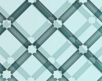 Μπλε αραβική διακοσμητική σύνθεση με τα τετράγωνα και τις σκιές Στοκ Εικόνες