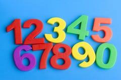 μπλε αριθμοί εκπαίδευσ&eta Στοκ Φωτογραφία