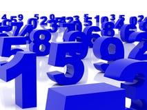 μπλε αριθμοί διανυσματική απεικόνιση