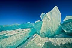 μπλε ασήμι λιμενικού πάγο& Στοκ φωτογραφίες με δικαίωμα ελεύθερης χρήσης
