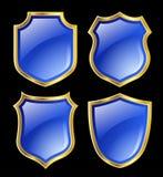 μπλε ασπίδες Στοκ φωτογραφίες με δικαίωμα ελεύθερης χρήσης