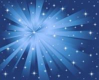 μπλε αστέρια ακτίνων ανασκόπησης απεικόνιση αποθεμάτων