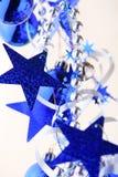 μπλε αστέρια ανασκόπησης Στοκ φωτογραφία με δικαίωμα ελεύθερης χρήσης