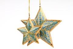 μπλε αστέρια τρία χρώματος Στοκ Φωτογραφία