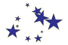 μπλε αστέρια Στοκ εικόνα με δικαίωμα ελεύθερης χρήσης