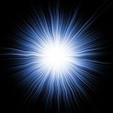 μπλε αστέρι έκρηξης Στοκ Εικόνες