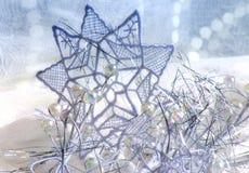 μπλε αστέρι δαντελλών Στοκ εικόνα με δικαίωμα ελεύθερης χρήσης