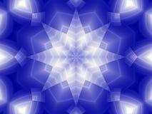 μπλε αστέρι Στοκ Φωτογραφία