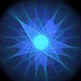 μπλε αστέρι Στοκ Εικόνες