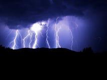 μπλε αστραπή Στοκ εικόνα με δικαίωμα ελεύθερης χρήσης