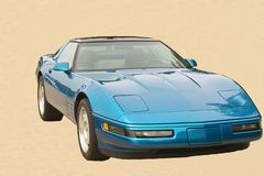 μπλε αυτοκίνητο Στοκ εικόνα με δικαίωμα ελεύθερης χρήσης