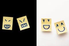 μπλε αυτοκόλλητες ετικέττες smilies ανασκόπησης Στοκ εικόνα με δικαίωμα ελεύθερης χρήσης
