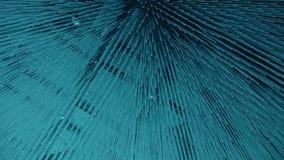 Μπλε αφηρημένα μόρια απόθεμα βίντεο