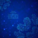 Μπλε αφηρημένη ανασκόπηση λουλουδιών. Στοκ φωτογραφία με δικαίωμα ελεύθερης χρήσης