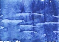 Μπλε αφηρημένη ζωγραφική σχεδίων πλυσίματος λουλουδιών καλαμποκιού Στοκ εικόνα με δικαίωμα ελεύθερης χρήσης