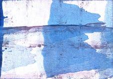 Μπλε αφηρημένη ζωγραφική watercolor λουλουδιών καλαμποκιού Στοκ φωτογραφία με δικαίωμα ελεύθερης χρήσης