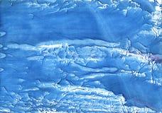 Μπλε αφηρημένη ζωγραφική watercolor λουλουδιών καλαμποκιού Στοκ Φωτογραφία