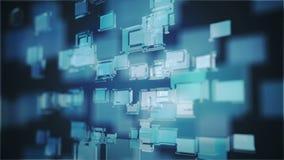 Μπλε αφηρημένη ζωτικότητα τετραγώνων γυαλιού ελεύθερη απεικόνιση δικαιώματος