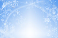 Μπλε αφηρημένη χειμερινή ανασκόπηση Στοκ Φωτογραφία