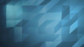 Μπλε αφηρημένη Polygonal επιφάνεια που κινείται στην άνευ ραφής τρισδιάστατη ζωτικότητα 4k Υπερβολικό HD ελεύθερη απεικόνιση δικαιώματος