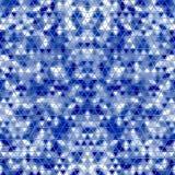Μπλε αφηρημένος γεωμετρικός το τριγωνικό χαμηλό πολυ υπόβαθρο ύφους Στοκ φωτογραφία με δικαίωμα ελεύθερης χρήσης