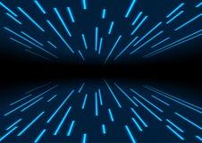 Μπλε αφηρημένο υπόβαθρο γραμμών ιχνών λέιζερ νέου ελεύθερη απεικόνιση δικαιώματος