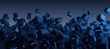 Μπλε αφηρημένο υπόβαθρο τεχνολογίας κιβωτίων Στοκ φωτογραφίες με δικαίωμα ελεύθερης χρήσης