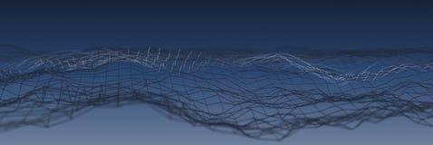Μπλε αφηρημένο υπόβαθρο τεχνολογίας πλέγματος Στοκ Φωτογραφία