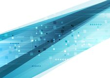 Μπλε αφηρημένο φουτουριστικό υπόβαθρο τεχνολογίας ελεύθερη απεικόνιση δικαιώματος