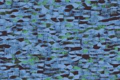 Μπλε αφρικανικά υφάσματα με τα σχέδια και τις χρωματισμένες συστάσεις ελεύθερη απεικόνιση δικαιώματος