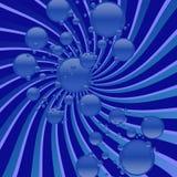μπλε αφρώδης στροβιλιμέν&omi Στοκ φωτογραφία με δικαίωμα ελεύθερης χρήσης