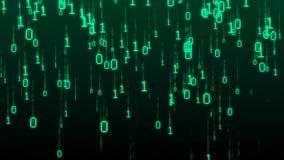 μπλε βαλμένη σε στρώσεις υπολογιστών κώδικα βαθιά οθόνη μήτρα απεικόνιση αποθεμάτων