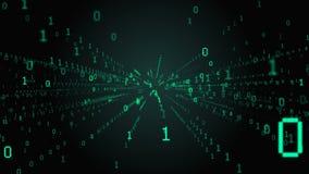 μπλε βαλμένη σε στρώσεις υπολογιστών κώδικα βαθιά οθόνη μήτρα διανυσματική απεικόνιση