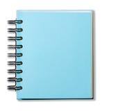 Μπλε βιβλίο σημειώσεων κάλυψης Στοκ Φωτογραφίες