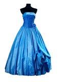 μπλε βράδυ φορεμάτων στοκ εικόνα με δικαίωμα ελεύθερης χρήσης