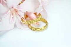 μπλε γάμος δαχτυλιδιών λ Στοκ Φωτογραφίες